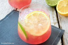 It's not a party without pink lemonade vodka punch! Make a batch then pop it in the freezer overnight.
