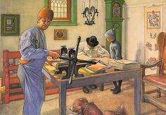 My Acid Workshop (Where I do my Etching), 1910 by Carl Larsson.