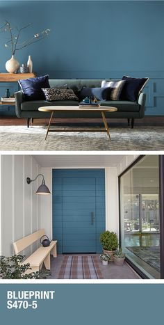 diy home decor - Whether you're looking for a dramatic change or a simple accent, this 2019 Colour of the Year from BEHR will do the trick Learn more at HomeDepot ca Interior Paint Colors, Paint Colors For Home, House Colors, Interior Design, Paint Colours, Home Office Design, House Design, House Painting, Interior And Exterior