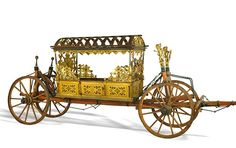 The bridal carriage, built in 1560 in Braunschweig was used by Duke Johann Casimir for his marriage to Margarete of Braunschweig