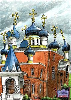 Tommy Kane's Art Blog: Seattle Sketchers. Orthodox church.