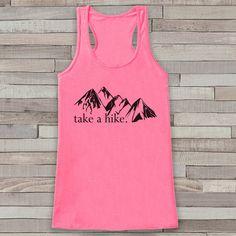 3da95d81d6fe6 Take a Hike Tank - Mountains Shirt - Adventure Tank Top - Camping Tank Top  - Womens Shirt - Outdoors Outfit - Hiking Shirt