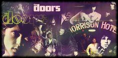 Imagen con carátulas y fotos de The Doors en estilo vintage #TheDoors #JimMorrison