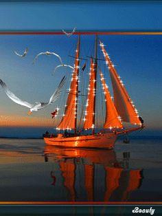 Яхты открытки анимация