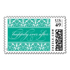Happily Ever After Damask Postage