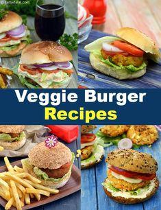 50 Veggie Burger Recipes : Veggie Burger Open Vegetable and Corn Burger Paneer and Corn Burger Vegetable Burgers Chunky Cheese and Vegetable Open Burger Paneer and Green Peas Burger. Veggie Burger Recipe Indian, Veg Burger Patty Recipe, Vegetable Burger Recipe, Best Veggie Burger, Veg Recipes, Burger Recipes, Kitchen Recipes, Indian Food Recipes, Aloo Recipes