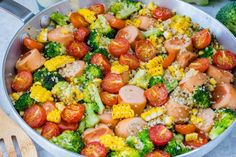 20 Minute Broccoli + Sausage + Quinoa Skillet: Clean Eating Win! | Clean Food Crush