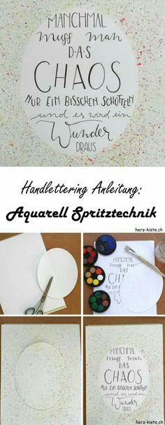 Büroarbeitsplatz chaos  Brush Lettering Handlettering Hand Frau Hölle Guide üben Edding ...