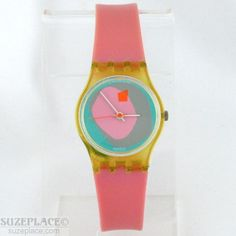 VINTAGE SWATCH LUNA Di CAPRI LADIES WATCH PINK LK 109P 1988 NEW BATTERY  #Swatch #SuzePlace www.SuzePlace.com