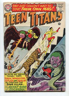 1966 DC COMICS TEEN TITANS #1 ROBIN KID FLASH WONDER GIRL AQUALAD VERY GOOD/FINE