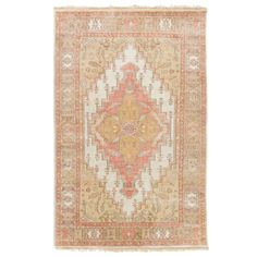 Traditional with a twist defines Surya's Zeus hand-knotted wool rug. A center diamond medallion demands focus, while a mix of floral and geometric patterns forms an engaging ornamental border. A variety of color and size options creates a custom look in living area, dining room, or foyer. Sizes: 2ft W x 3ft L, 2ft-6in W x 8ft L, 3ft-9in W x 5ft-9in L, 5ft-6in W x 8ft-6in L, 8ft Round, 8ft W x 11ft L, 9ft W x 13ft L; Shown in: Rose; Material: 100% New Zealand wool; Rug pad recommended.