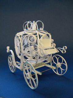Quilled Cinderella & Coach quilling coach, cinderella coach, 3d paper, diy gift, creativ handmad, quill carriag, paper quilling, idea hand, decor idea
