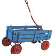 Homemade wooden wagons serve a variety of purposes from children's toy to gardener's cart to landscape item. Wagons can be built and customized to suit individual needs using basic carpentry. Paint the wagon any color and allow children to decorate it for their toys. Gardeners can add heavy items to the wagon because of the support added underneath...