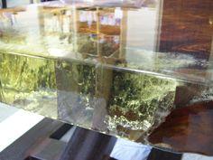 Swamp Kauri / Cracked Resin Coffee table . www.hooch.nz