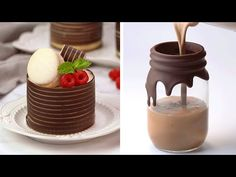 10 Chocolate Decoration Ideas To Impress Your Guests Chocolate Bowls, Tasty Chocolate Cake, Chocolate Desserts, Mini Desserts, Delicious Desserts, Dessert Recipes, Yummy Food, Mini Tortillas, Cake Decorated With Fruit