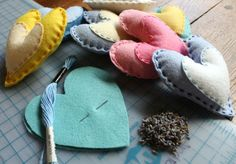 heart sachet favors. such a lovely idea, fill them with lavender. mmm