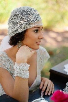 Vintage styled veil. Custom by Rosalia of Tendencias (Australia.) Photography by marinalockephotography.com.au,