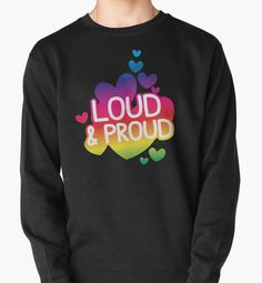 LOUD AND PROUD gay rainbow by jazzydevil