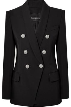 Balmain | Double-breasted wool blazer | NET-A-PORTER.COM
