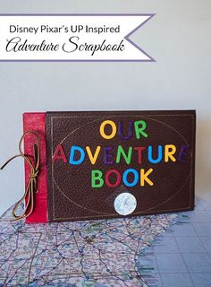 Our Adventure Scrapbook DIY. A fun craft for kids or adults! Inspired by Disney Pixar's Up.   My Crafty Spot adventures by disney, disney adventures #disney
