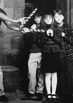 I love seeing behind the scenes photos of the Harry Potter movies! I'm such a Potter nerd!!!