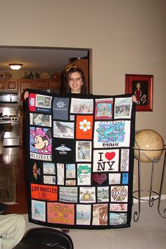 Amanda's T-shirt memory quilt 12-25-2005 by Sewfrench, via Flickr
