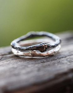 Two Sterling Silver Twig Rings, Black Patina Twig Ring, Sterling Silver Branch Rings, Whimsical Silver Twig Ring, Twig Friendship Rings by ClaudetteTreasures on Etsy (null) Twig Ring, Branch Ring, Jewelry Rings, Jewelry Accessories, Fine Jewelry, Unique Jewelry, Gold Jewellery, Jewellery Shops, Jewelry Stores