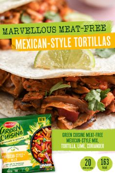 Easy and healthy, this meat-free recipe is the perfect movie night food inspo. It's the perfect #fakeaway. Get more goodness with less wait! #vegetarian #summer Low Calorie Recipes, Diet Recipes, Vegetarian Recipes, Healthy Recipes, Vegetarian Xmas, Tortillas, Basic White Bread Recipe, Night Food, Keto