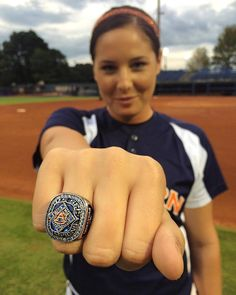 The softball team got their SEC championship rings today. (October - They won in May, Auburn Softball, Sec Championship, Auburn University, Auburn Tigers, Alma Mater, Eagle, October, War, Spaces