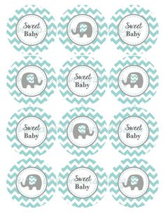 All information about Elephant Baby Shower Printables. Pictures of Elephant Baby Shower Printables and many more. Elephant Cupcakes, Cupcake Toppers Free, Baby Shower Cupcake Toppers, Baby Shower Tags, Baby Boy Shower, Elephant Baby Showers, Baby Elephant, Teal And Grey, Molde