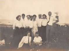 Photograph Snapshot Vintage Black and White: Family Dress Hug Smile 1920's