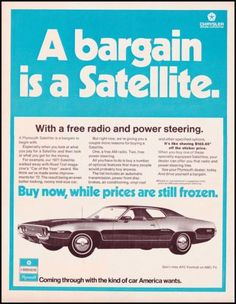1971-PLYMOUTH-SATELLITE-AUTOMOBILE-Original-Vintage-Print-Ad-OLD-CHRYSLER-AD
