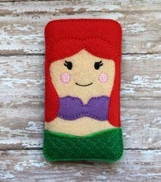 Felt Ariel Phone Ipod case cellphone case Iphone 4, 4S, 5, Ipod touch Galaxy