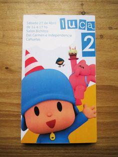 Invitaciones Pack pocoyo, $240 en http://ofeliafeliz.com.ar Estudio VillaVilla