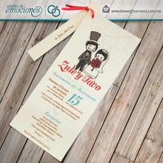 Invitaci n de boda divertida para una pareja de cine for Idea interior cierra