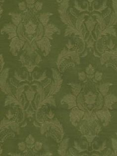 A lovely green damask wallpaper from the book Vintage Legacy 3. Decorate those walls with the help of AmericanBlinds.com! #wallcovering
