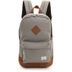 Herschel Supply Co. Heritage Mid Volume Backpack (€49) ❤ liked on Polyvore featuring bags, backpacks, grey, vegan leather backpack, herschel supply co., gray backpack, grey backpack and rucksack bag