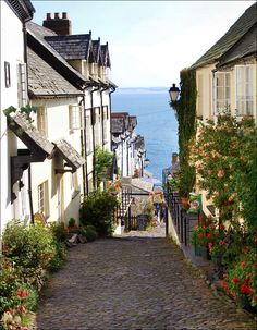 """""""Clovelly"""" by grah44 on Flickr - Clovelly, North Devon, England, UK:  This picturesque place is normally crowded with tourists - all with cameras!"""