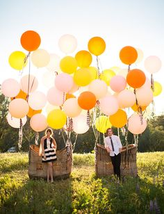 Balloon basket inspiration from Found Vintage Rentals