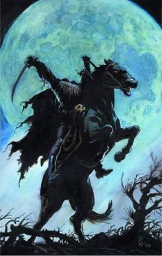 Of course, my middle-reader's book, Halloween Kentucky Style, has a headless horseman, but this one even small children will enjoy. Halloween Pictures, Spooky Halloween, Holidays Halloween, Vintage Halloween, Halloween Crafts, Happy Halloween, Halloween Candles, Halloween Stuff, Arte Horror