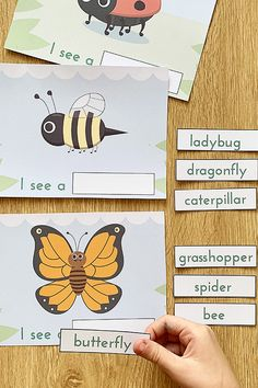 Free Printable Emergent Reader and Literacy Group Activity: I See Bugs
