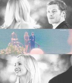 Caroline and Klaus.  4x07 Miss Mystic Falls.