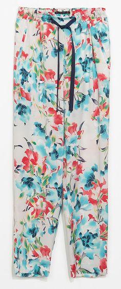 pantalon à fleur zara