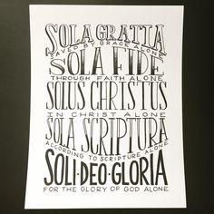 5 Solas Print