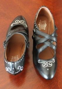 Decorate your own 1920's style shoes with scrap booking stickers like these rhinestones.  http://www.vintagedancer.com/womens-1920s-and-1930s-shoe-styles/