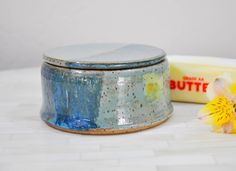 Ready to Ship, Butter Crock, French Butter Keeper, Pottery, Wheel Thrown Pottery, Butter Dish, Pottery Handmade, Wheel Thrown Butter Keeper by ShawnaPiercePottery on Etsy