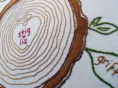 a cozyblue embroidery pattern, made by you!    ive created a hand-embroidered version of our popular custom family tree screenprints, and am so pleased
