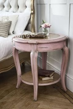 pretty bedside table