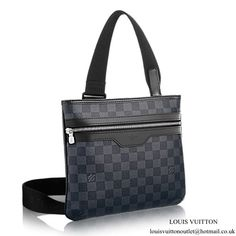 a9a5216a78 Louis Vuitton N58028 Thomas Messenger Bag Damier Graphite Canvas