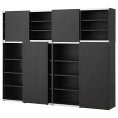 """423.30 BESTÅ Storage combination - black-brown, 94 1/2x15 3/4x75 5/8 """" - IKEA"""